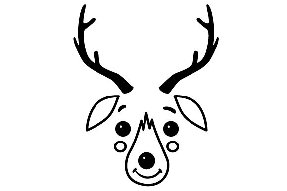 Download Free Cute Reindeer Face Svg Cut File By Creative Fabrica Crafts Creative Fabrica for Cricut Explore, Silhouette and other cutting machines.