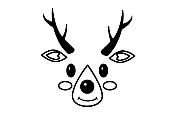 Cute Reindeer Face Christmas Craft Cut File By Creative Fabrica Crafts - Image 2