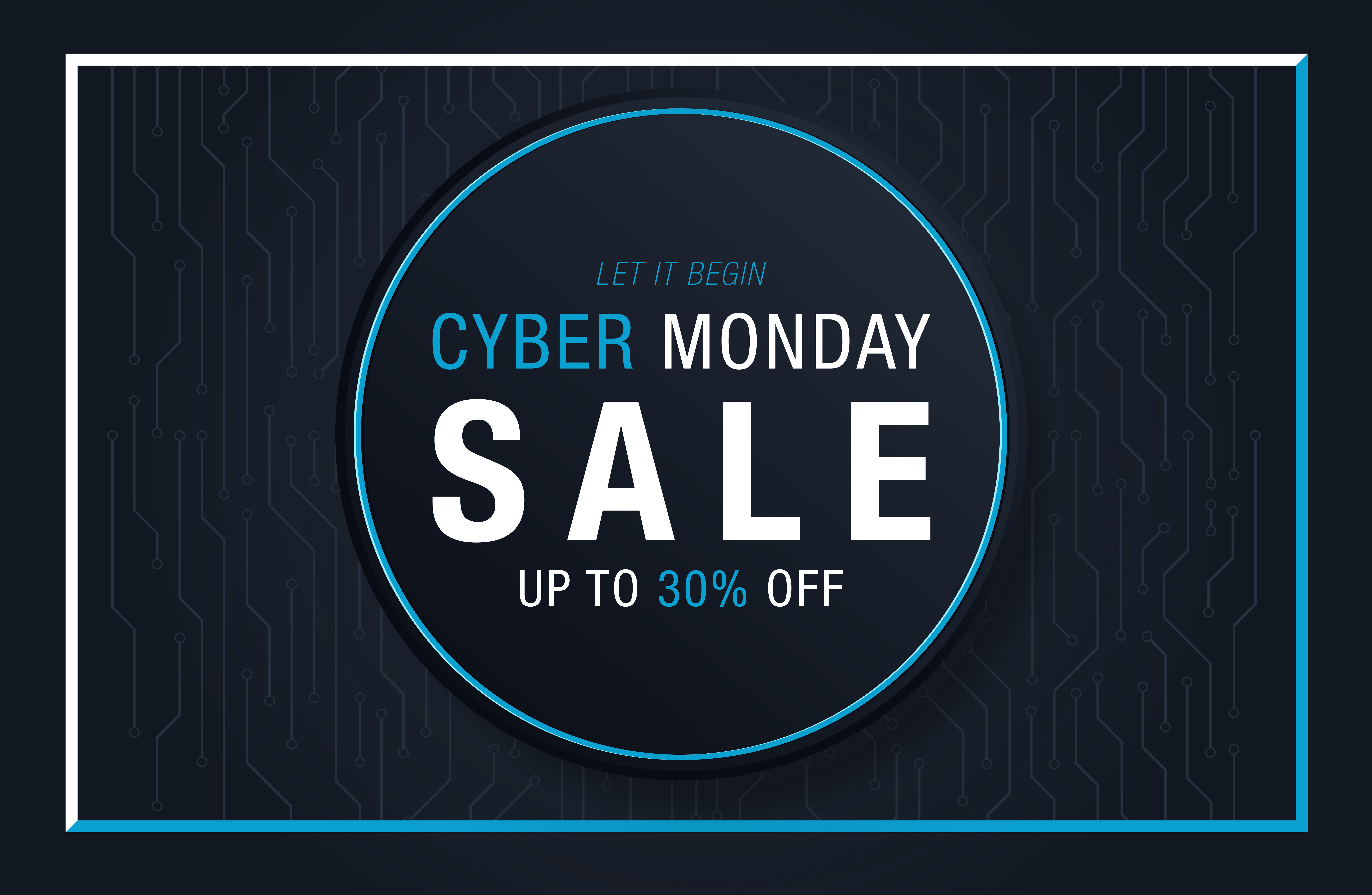 Cyber Monday Background For Good Deal Promotion Graphic By Inkwell Creative Fabrica