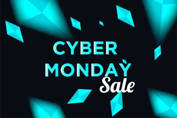 Print on Demand: Cyber Monday Sale Background for Good Deal Promotion Graphic Backgrounds By ojosujono96