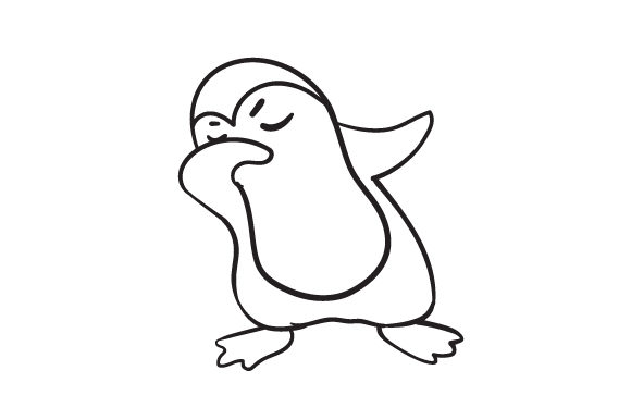 Download Free Dabbing Penguin Svg Cut File By Creative Fabrica Crafts for Cricut Explore, Silhouette and other cutting machines.