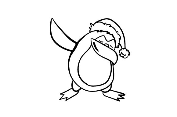 Download Free Dabbing Penguin With Santa Hat Svg Cut File By Creative Fabrica for Cricut Explore, Silhouette and other cutting machines.
