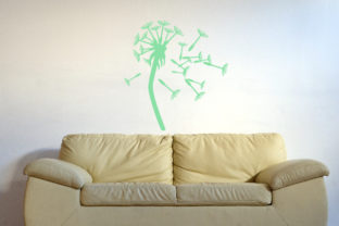 Dandelion Being Blown Away, Fits 23x39 Inch Wall Art Craft Cut File By Creative Fabrica Crafts