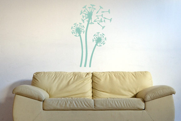 Dandelions Being Blown Away, Fits 39x39 Inch Wall Art Craft Cut File By Creative Fabrica Crafts