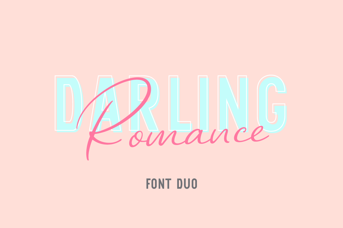 Download Free Darling Romance Duo Font By Pasha Larin Creative Fabrica for Cricut Explore, Silhouette and other cutting machines.