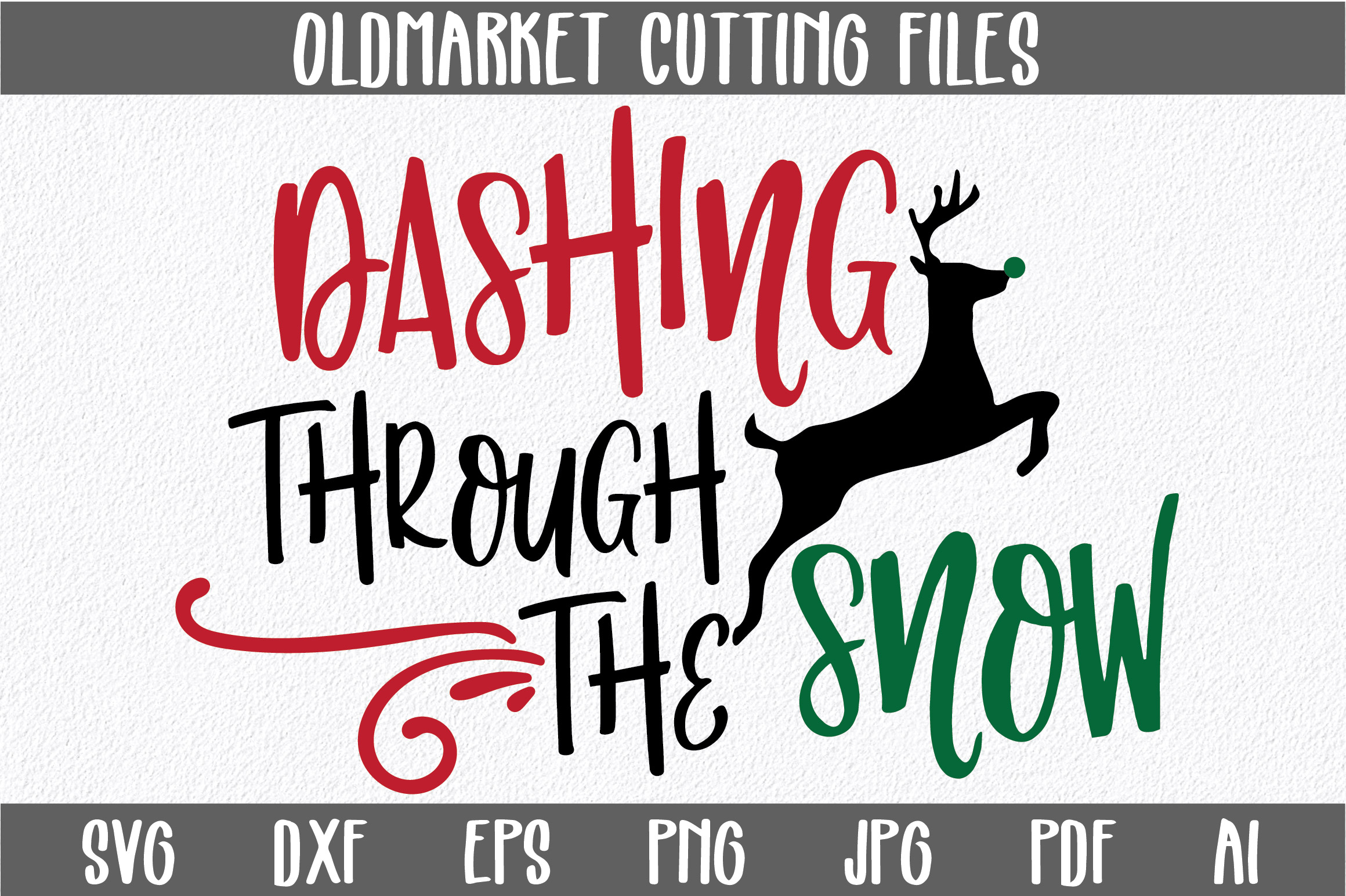 Download Free Dashing Through The Snow Svg Cut File Christmas Svg Graphic By Oldmarketdesigns Creative Fabrica for Cricut Explore, Silhouette and other cutting machines.