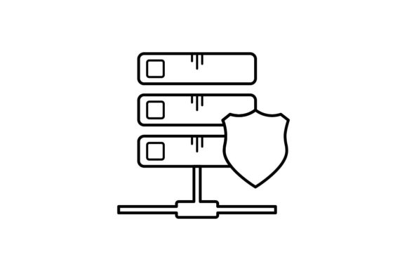 Print on Demand: Database Protection Graphic Icons By khld939