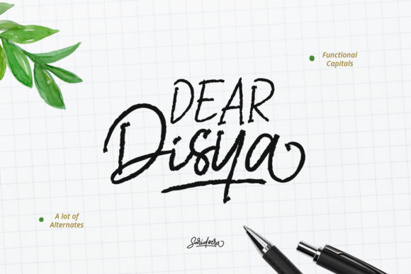 Print on Demand: Dear Disya Script & Handwritten Font By saridezra