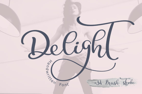 Print on Demand: Delight Script & Handwritten Font By Happy Letters