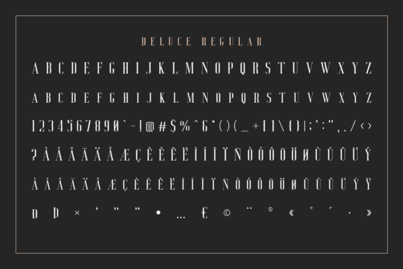 Print on Demand: Deluce Serif Font By craftsupplyco - Image 11