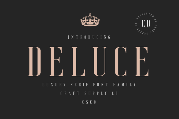Print on Demand: Deluce Serif Font By craftsupplyco - Image 7
