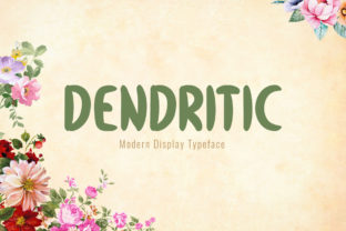 Print on Demand: Dendritic Display Font By Shattered Notion