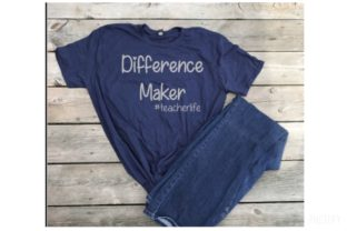 Download Free Difference Maker Graphic By Britt S Hits Creative Fabrica for Cricut Explore, Silhouette and other cutting machines.