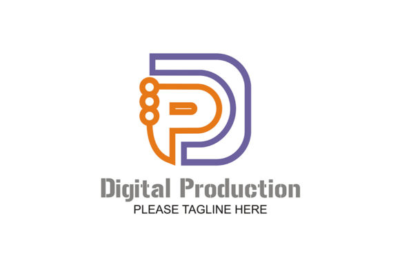 Download Free Digital Production Logo Graphic By Friendesigns Creative Fabrica for Cricut Explore, Silhouette and other cutting machines.