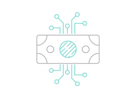 Print on Demand: Digital Money Graphic Icons By Iconika