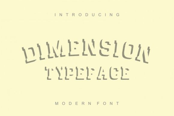 Print on Demand: Dimension Display Font By bywahtung - Image 1
