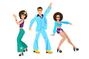 Disco Dancers with Sparkles Craft Design By Creative Fabrica Crafts