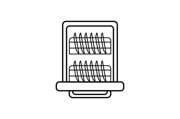 Print on Demand: Dishwasher Graphic Icons By khld939