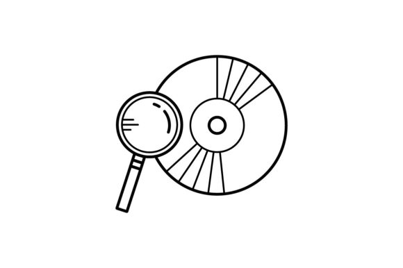 Print on Demand: Disk Scan Graphic Icons By khld939