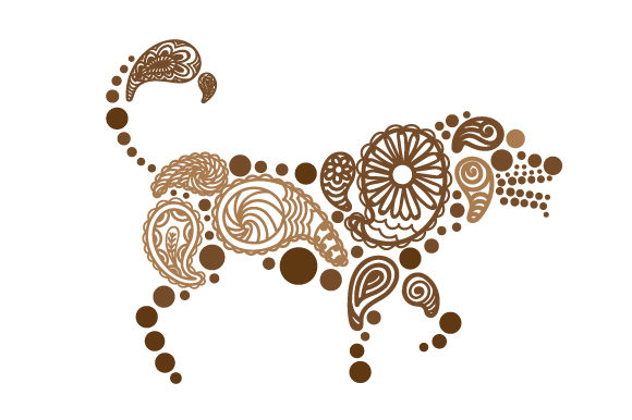Download Free Dog Made Out Of Paisly Patterns Svg Cut File By Creative Fabrica SVG Cut Files