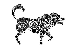Dog Made out of Paisly Patterns Paisley Craft Cut File By Creative Fabrica Crafts 2