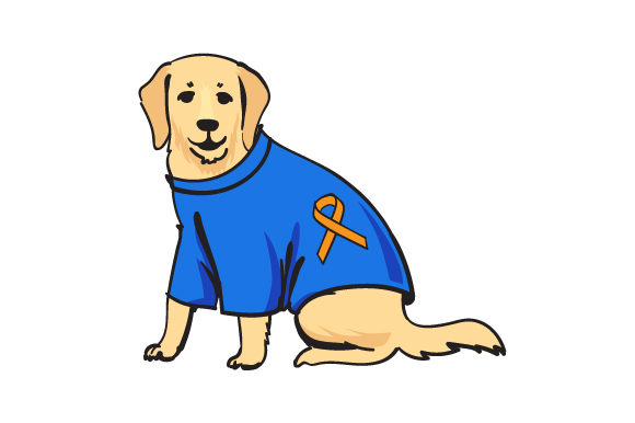Download Free Dog Wearing Shirt With Multiple Sclerosis Awareness Svg Cut File for Cricut Explore, Silhouette and other cutting machines.