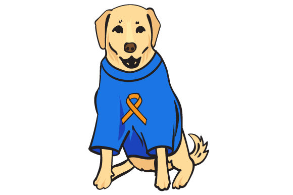 Dog Wearing Shirt with Multiple Sclerosis Awareness Awareness Craft Cut File By Creative Fabrica Crafts