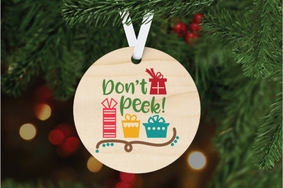 Download Free Don T Peek Christmas Cut File Graphic By Oldmarketdesigns for Cricut Explore, Silhouette and other cutting machines.