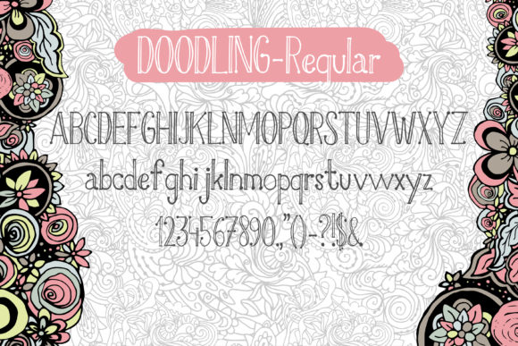 Doodling Family Font By ilonitta.r Image 5