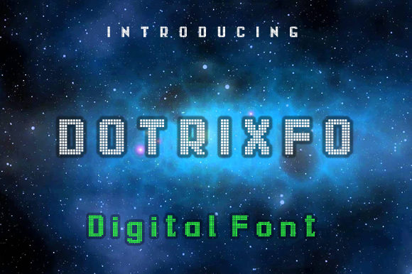 Print on Demand: Dotrixfo Display Font By leamsign