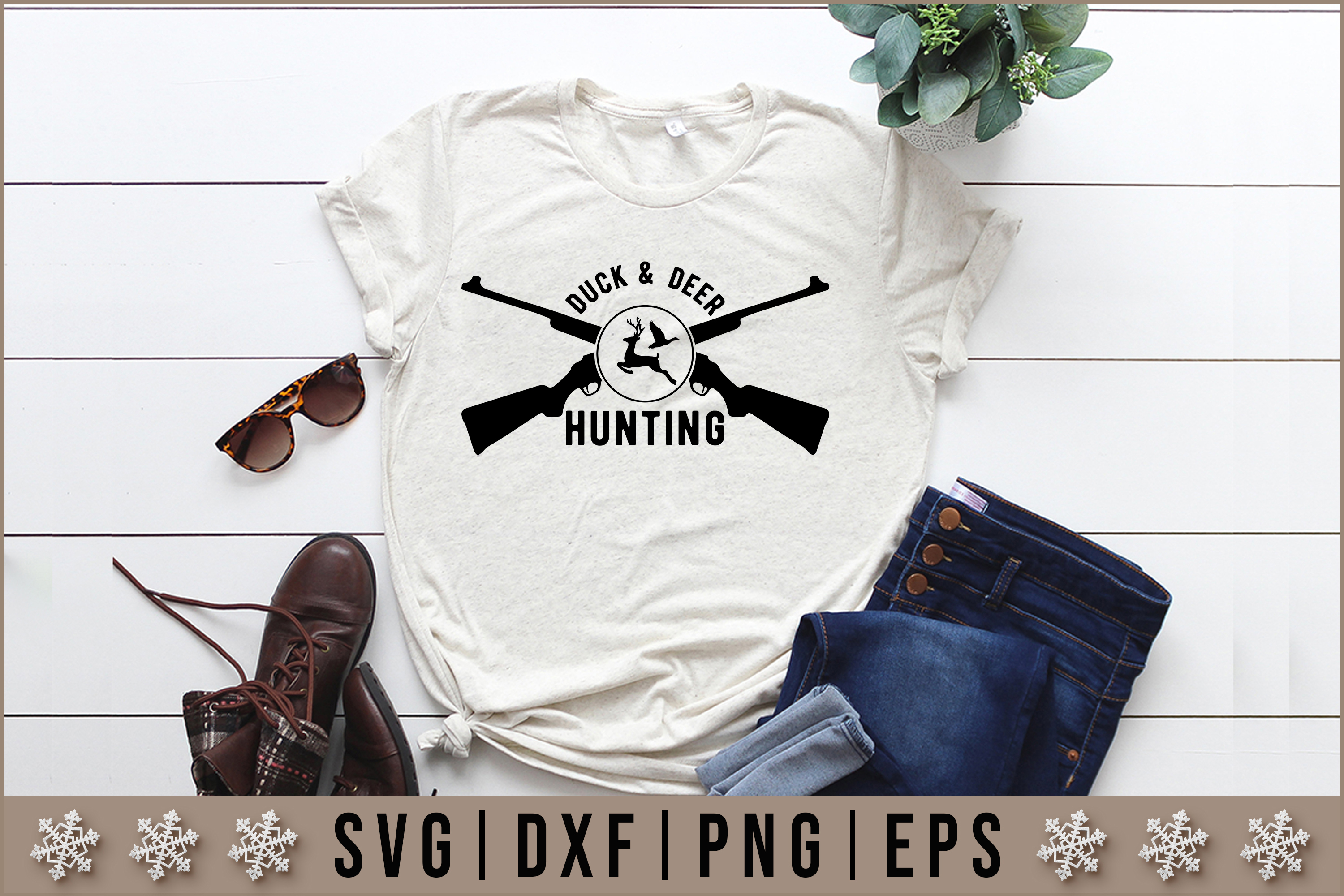Duck Deer Hunting Svg Graphic By Artistcreativedesign