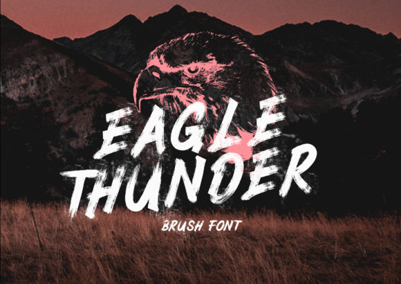 Print on Demand: Eagle Thunder Display Font By Semar