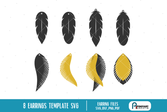 Download Free Earrings Template Bundle Graphic By Pinoyartkreatib Creative for Cricut Explore, Silhouette and other cutting machines.