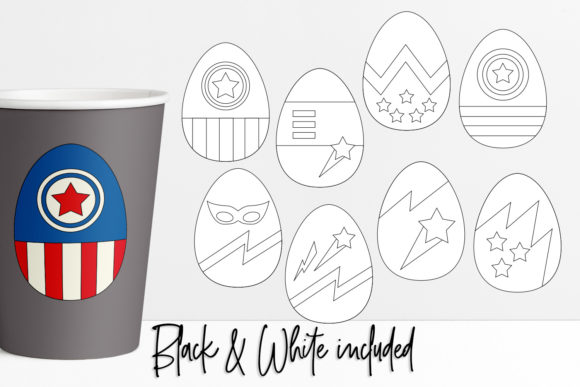 Download Free Easter Eggs Superhero Graphic By Darrakadisha Creative Fabrica for Cricut Explore, Silhouette and other cutting machines.