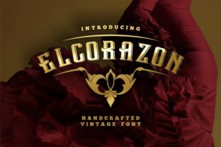 Print on Demand: Elcorazon Display Font By bywahtung