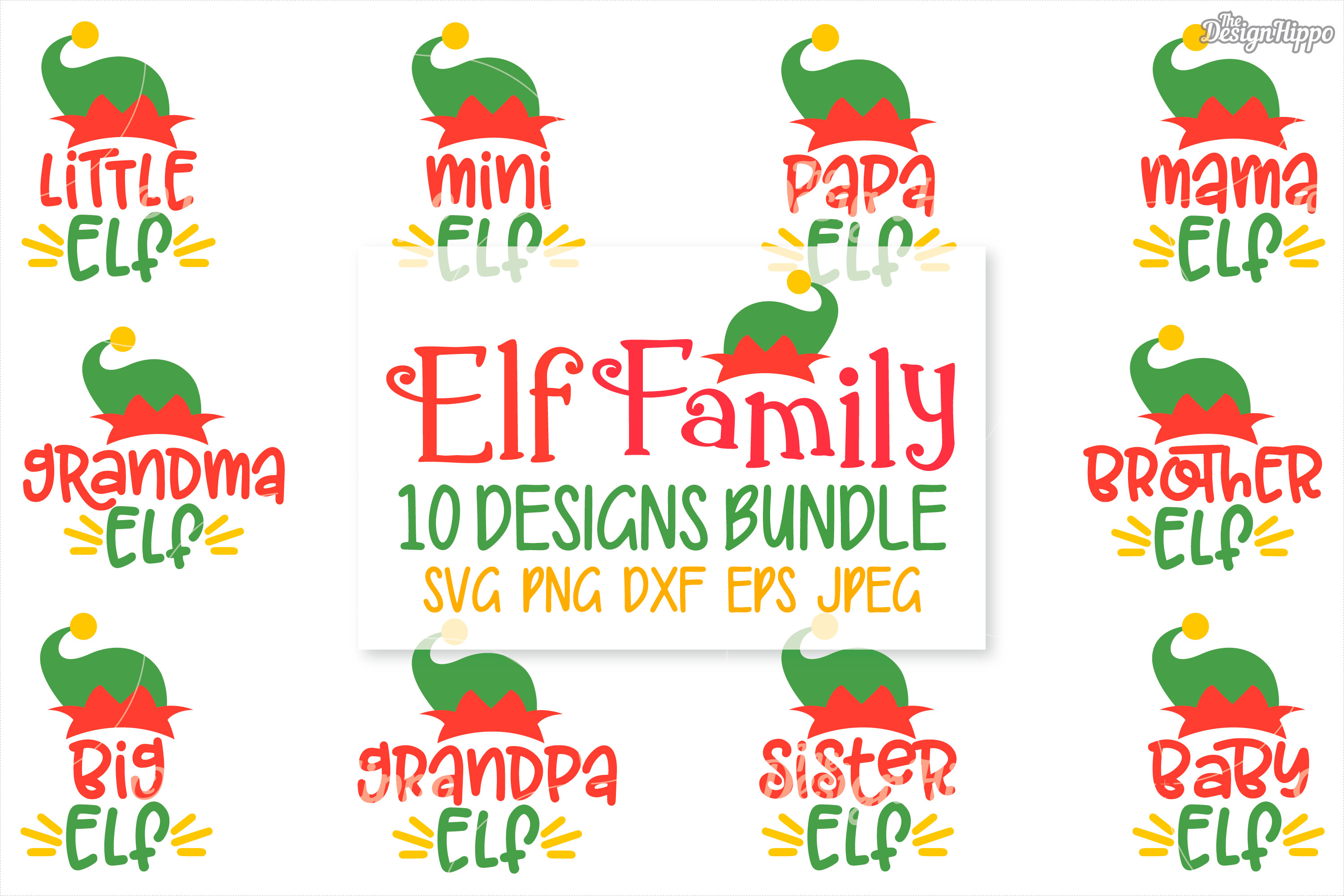 Download Free Elf Family Bundle Graphic By Thedesignhippo Creative Fabrica SVG Cut Files
