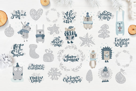 Enjoy Xmas Scandinavian Christmas Design Graphic By Happy Letters Image 2