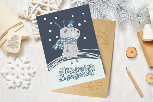 Enjoy Xmas Scandinavian Christmas Design Graphic By Happy Letters Image 3