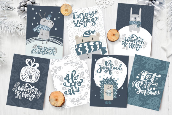 Enjoy Xmas Scandinavian Christmas Design Graphic By Happy Letters Image 4