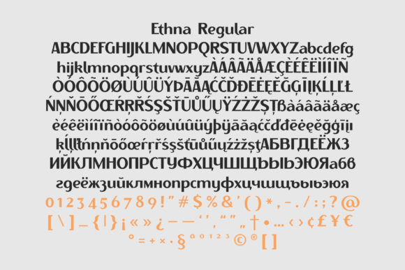 Print on Demand: Ethna Family Sans Serif Font By NREY - Image 3