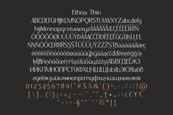 Print on Demand: Ethna Family Sans Serif Font By NREY - Image 4