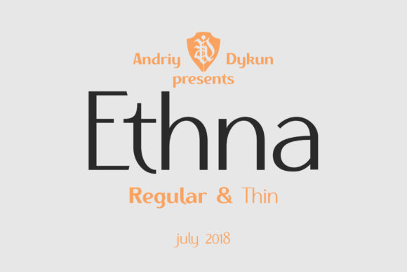 Print on Demand: Ethna Family Sans Serif Font By NREY