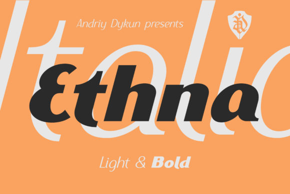 Print on Demand: Ethna Sans Serif Font By NREY