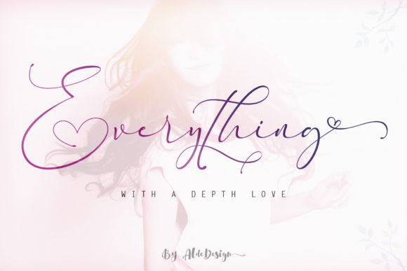 Print on Demand: Everything Script & Handwritten Font By aldedesign