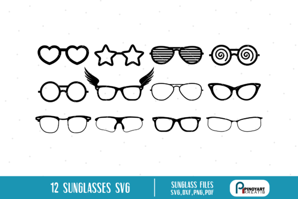 Download Free Eyeglasses Bundle Graphic By Pinoyartkreatib Creative Fabrica for Cricut Explore, Silhouette and other cutting machines.