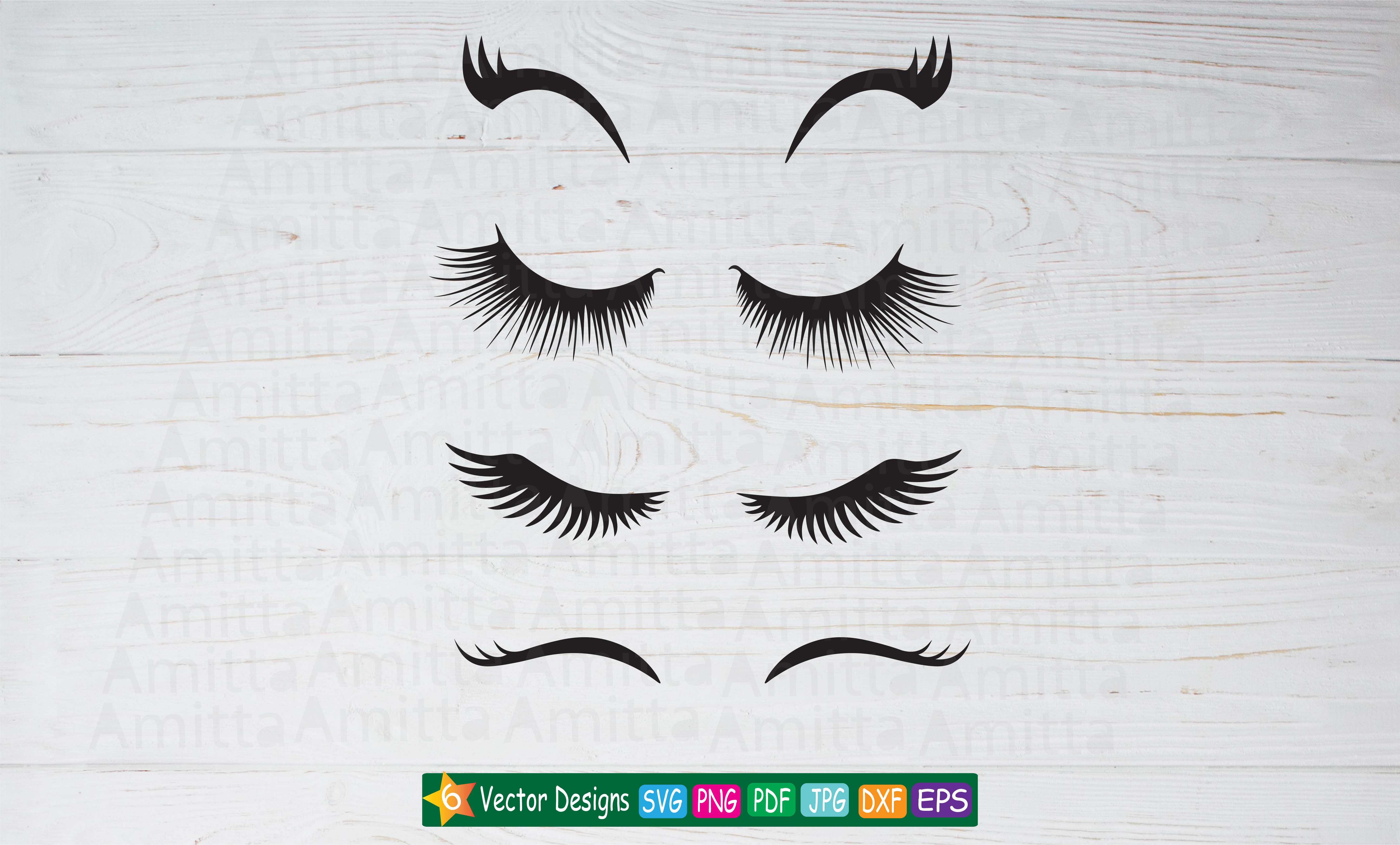 Download Free Eyelashes Graphic By Amitta Creative Fabrica for Cricut Explore, Silhouette and other cutting machines.