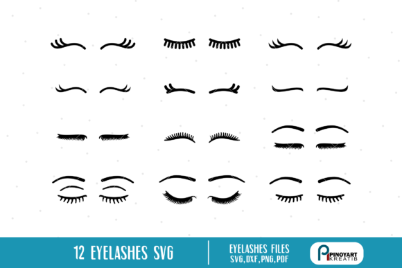 Eyelashes Bundle Gráfico Crafts Por Pinoyartkreatib