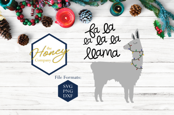 Fa La Llama SVG Graphic Crafts By The Honey Company