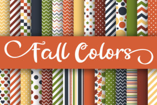 Fall Colors Digital Papers Graphic By oldmarketdesigns