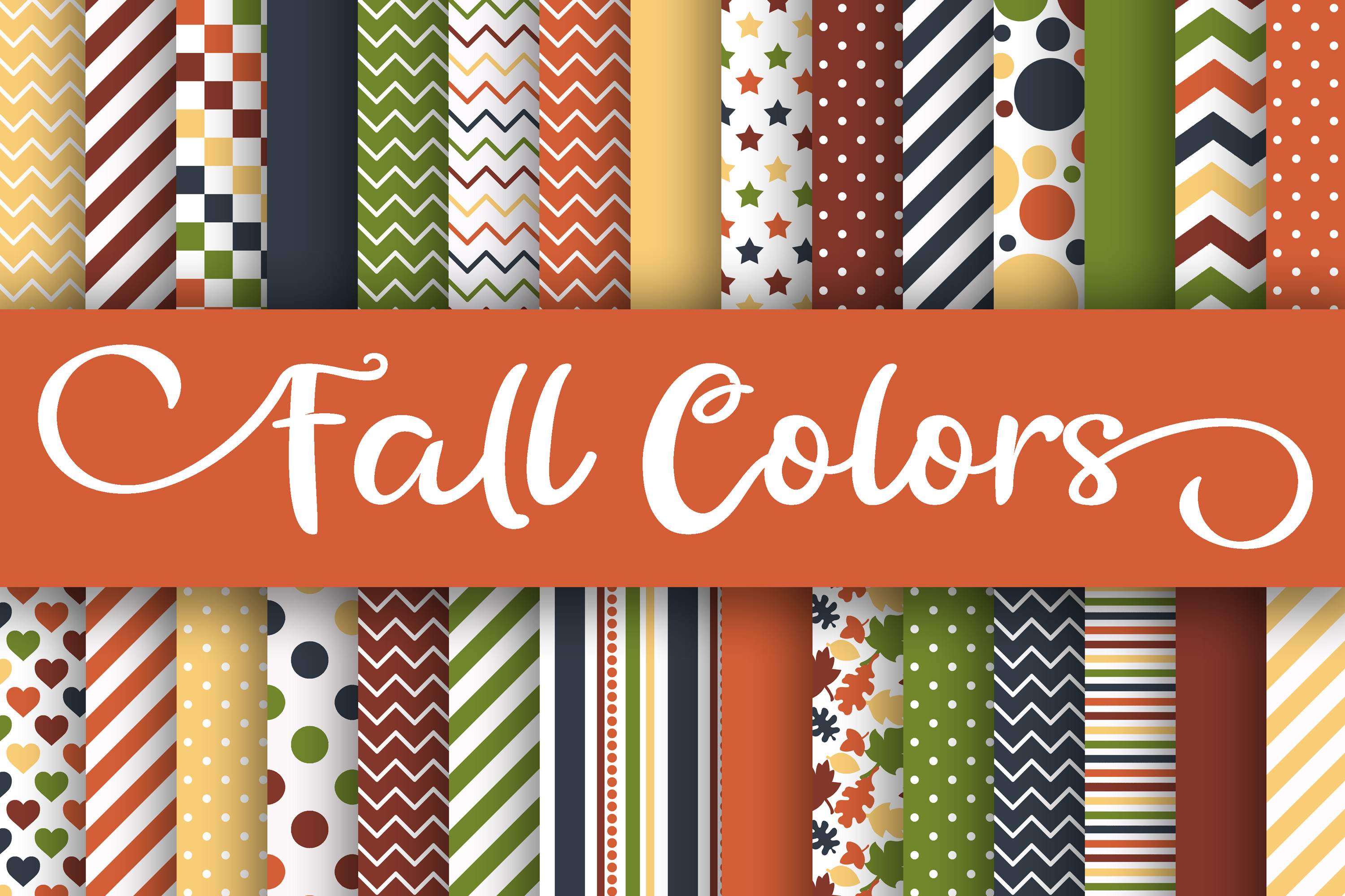 Download Free Fall Colors Digital Papers Graphic By Oldmarketdesigns for Cricut Explore, Silhouette and other cutting machines.